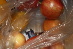 Apples in bag